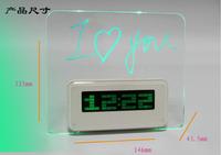 2015 Real Candy Grabber USB Alarm Clock Minions Despertador Led Alarm Clock With Message Board Calendar Thermometer Lazybones