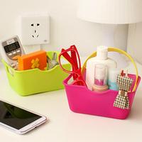 2015 Creative Home Desktop Storage Baskets Bins Mini Cosmetics Box Fruit Basket Container Organizer Box