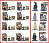 120pcs Baby Toys SY260 &SY168 Building Blocks Super Heroes Avengers Minifigures SWAT Minifigures Bricks Toy Education Toys
