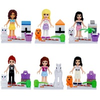 Friends Girls Series Lot of 6 Set Mini Figures Building Block Girls Toy Gift Brand New Free Shipping