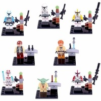 Star Wars Super Heros Lot of 8 Set Mini Action Figures Building Block Toy Kids Gift New Free Shipping