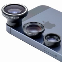 Magnetic 3in1 Fisheye fish eye Lens + Wide Angle + Macro Mobile Phone Lens photo Kit Set for iPhone 4 4S 5 5S S Samsung S4 Note2