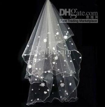 Wedding veil three meters mantilla all over the sky star pattern