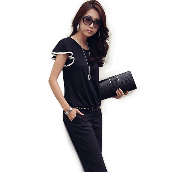 2015 Fashion Women's Clothing Butterfly Short Sleeve Casual Shirt Cotton Loose Tops T-Shirt(China (Mainland))