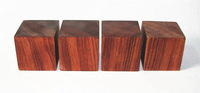 Hifi store NEW 4pcs Square 50*50*50mm rosewood amplifier Shockproof spikes amplifier feet