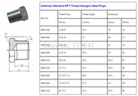 American Standard NPT Thread Hexagon Steel Plugs