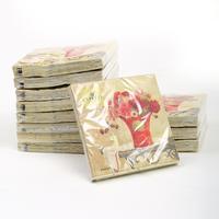 [12 packs]100% virgin wood pulp food-grade printed paper napkins wedding paper napkin colorful tissue paper serviette-4NC466