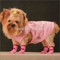 Hot sales 4Pcs Cute Puppy Dogs Pet Knits Socks Anti Slip Skid Bottom Hot Sale Fashion free shipping