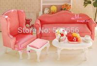 1:12 Dollhouse Miniature Furniture Queen Anne Living Room 4pc Watermelon Red