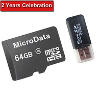 MicroData 64GB Memory Card Micro SD Card Class 10 Flash Card Micro SDHC Microsd TF USB Reader Top Selling A++++