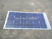 Frosted 50w  monocrystalline silicon transparent flexible half flexible solar panel/car 12 v car solar panels
