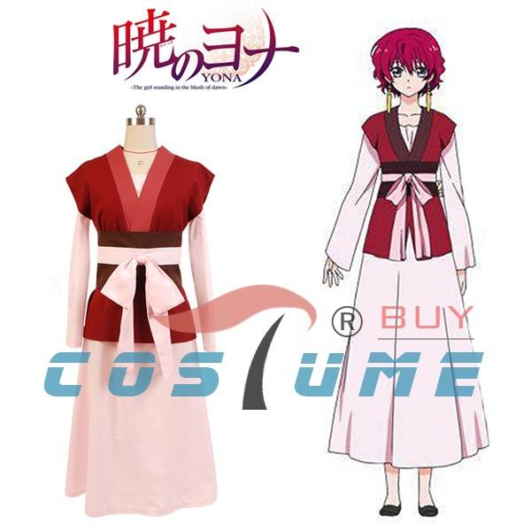 Anime Akatsuki no Yona Princess Yona Women Girls Long Pink Party Dress Cosplay Costume New Arrivals