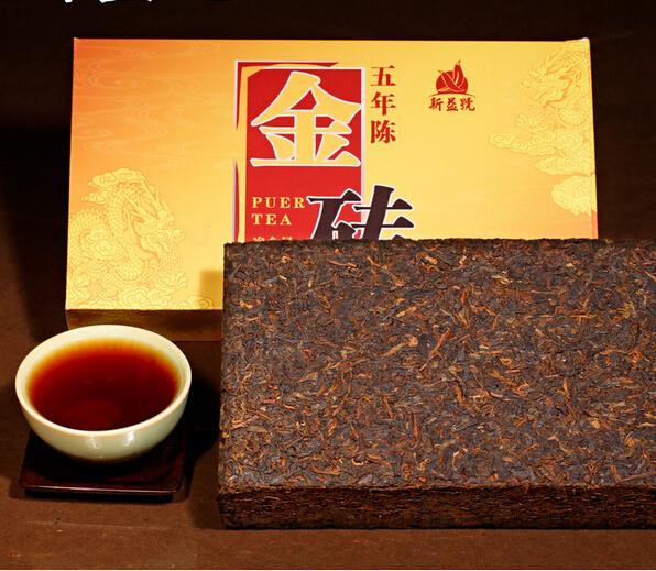Top grade Free Shipping 1000g gift box yunnan ripe puer tea pu er brick Chinese tea