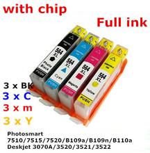 hp564XL 564 XL compatible ink cartridge For HP Photosmart 7510/7515/7520/B109a/B109n/B110a Deskjet 3070A/3520/3521/3522 printers