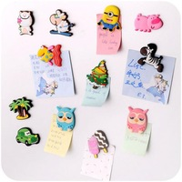 Creative Cute Cartoon Animal Fridge Magnet Fashion Home Decor in Fridge Magnets Stereo Soft Magnetic Sticker 10 Pieces/Lot