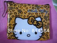 5PCS Hello kitty Girls PURSE COINS BAG Keychain Free Shipping