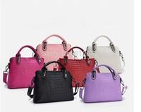 Women handbag Women's Messenger bag Genuine Leather Portable Crocodile Shoulder bag Women's Crossbody Bags bolsas femininas
