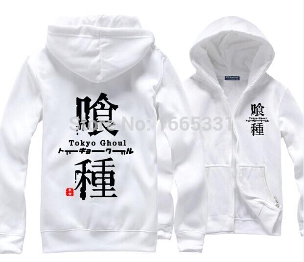 Fashion Jacket Polar Fleece Hoodies Men Anime Print Velvet Sport Coat Tokyo Ghoul TG Shilf Playsuit Leisure Outwear Topshop(China (Mainland))