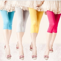 2015 New Fashion Multicolour Candy Color Leggings Elastic Skinny Capris 4060
