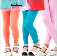 2015 Leggings For Children Spring Autumn Girls Elastic Candy Color Legging Girls Kid Girls  Pants Fashion 8 Colors AB661