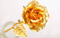 2015 Valentine's Day Best Gifts 24k Gold Rose Lover's Flower Gold Dipped Rose(open, bud) Wholesale Price