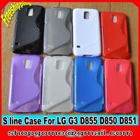 S line TPU Case for LG G3 ,S Line TPU Case Anti-skid design for LG G3 D855 D851 D850,10pcs/lot,Free shipping