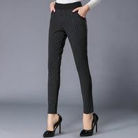 XL-5XL Brand High Quality 2015 Spring Summer Plus Size Women Pencil Pants Stripe Casual Capris Lady Long Trousers XXXL 4XL
