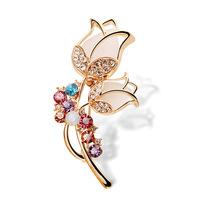 New 2015 Authentic Korean luxury Rhinestone brooch bouquet fashion crystal brooch lapel pin bag ladies animal brooch