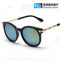 New brand design polarized Sunglasses women quality reflective Sun lenses eyewear driving Metal wave Oversized shades UV400 CE