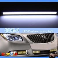 Fast shipping!!1set/2pcs  DC 12V COB LED high power 100% Waterproof  Auto Daytime running lights vw polo led drl