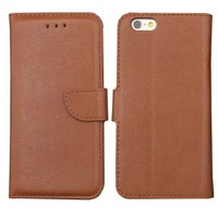 For Apple Iphone 6 Case 4.7 New Simple Black White Business Leather Flip Stand Case With Card Slot For iphone 6 Case 4 Color