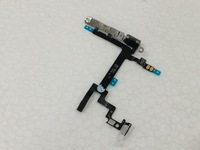 50pcs/lot Original Power Mute Volume on off Button Switch Flex Cable with Metal Bracket Connector for iPhone 5 Free shipping