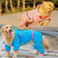Fashion New Arrival Plus Size Large Dog Doggy Pet Warm Outdoor Waterproof  Rain Coat Jacket Reflective Raincoat  Clothes