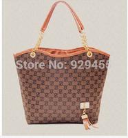New Hot Sale 2014 Promotion Handbag Shoulder Bag Korea Fashion Metal Chains Tassel Shoulder Bag Tote Brand Free Shipping