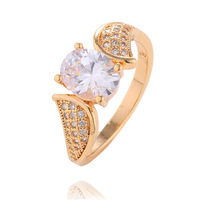 Free shipping 1pc 18K gold filled Clear CZ Zircon Fashion Classic Engagement Women's ring Size 7/8/9