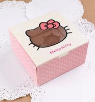 Hellow kitty four Muffin Box with Window 30PCS/LOT 16cmX16cmX8.5cm