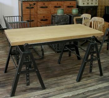 Loft industriel am ricain de style meubles r tro fer - Bureau industriel metal bois ...