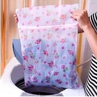 South Korean high-quality green home printing fine mesh nylon laundry bag bra underwear care wash bag Specials