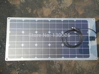 Frosted 80w  monocrystalline silicon transparent flexible half flexible solar panel/car 12 v car solar panels