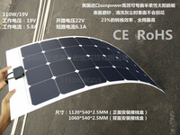 High efficiency Sunpower 100w  monocrystalline silicon transparent flexible half flexible solar panel/car 12 v car solar panels