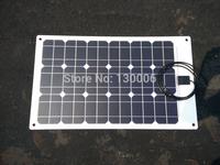 White Frosted 80w  monocrystalline silicon transparent flexible half flexible solar panel/car 12 v car solar panels