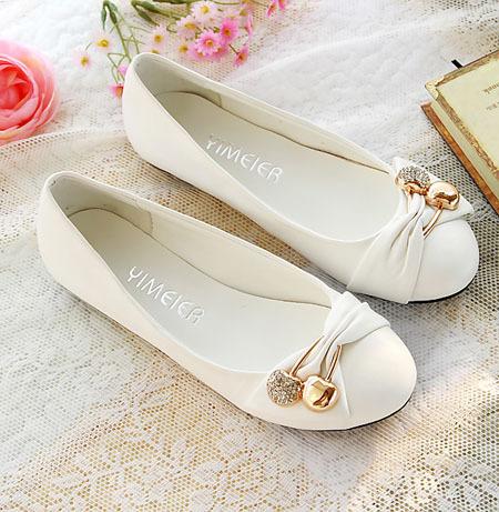 ENMAYER Free shipping women's fashion shoes flat shoes large size 4-14 female ballet shoes(China (Mainland))