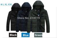 2015  New Arrival fashion warm Outdoor Windbreaker waterproof breathable duck Padded Jacket Sport men down coat winter