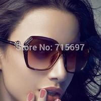 2015 Women/female New Elegant Roses 5041 Retro Carved Sunglasses Big Frame Oversized Uv400 Sunglasses