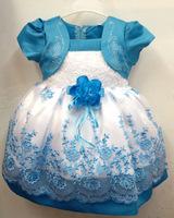 Korean Puff Sleeve Lace Flowers Dress Causal Girls Chiffon Princess Dresses New Fashion 2015 Free Shipping
