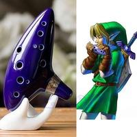 Free Shipping New 12 Hole Blue Ocarina Ceramic Alto C Legend of Zelda Ocarina Flute Instrument