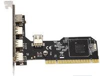 4+1 ports USB2.0 to PCI 32bit Expansion PCI 4x USB2.0 Controller Card