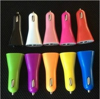3.1A Dual USB Car Charger for iPad,for iPhone 5 4G 3GS and Cell Phone / PDA / Mp3 / Mp4 1000pcs free shipping