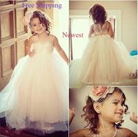 69 2015 sheer back ball gown flower girl dresses for weddings girls pageant dresses prom dress children vestido de daminha 2015