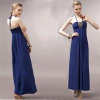 beach dress suspender sexy tube top halter-neck one-piece dress full dress